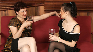 mature and teen lesbian sex ends in a golden shower