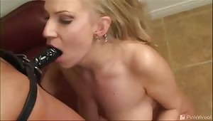 The nice thing about Xana is that she gets as nasty as I like it. She lets me ballgag her mouth then fuck her, she tastes the dildo straight from her butthole, then rides my butt with her dildo and gags me with it also. Make sure you don't miss the HARD b